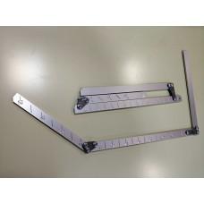 Вилка мерная шаблон алюминиевая 4-52см
